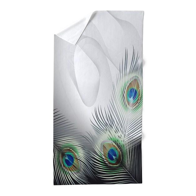 Bath Towel Sets Feather: Peacock Feather Fantasy Beach Towel By FantasyArtDesigns