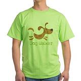 Dog walker Green T-Shirt