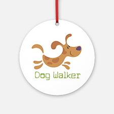 DogWalker Round Ornament