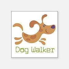 "DogWalker Square Sticker 3"" x 3"""