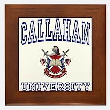 CALLAHAN University Framed Tile