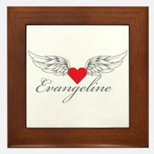 Angel Wings Evangeline Framed Tile