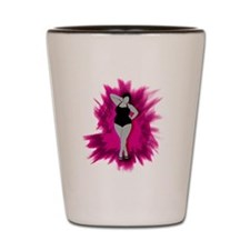 sexiness burst pink Shot Glass