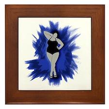 sexiness burst blue Framed Tile