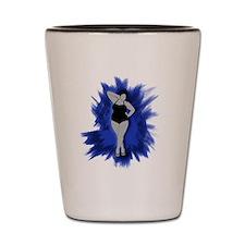 sexiness burst blue Shot Glass