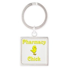 Pharmacy Chick Square Keychain