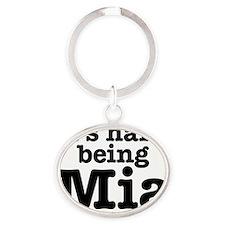 ihb_mia Oval Keychain