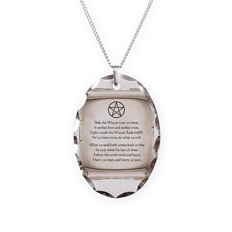 rede-wicca Necklace Oval Charm