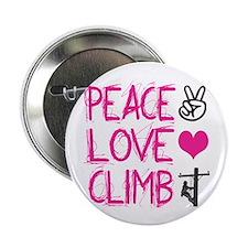 "peace love climb pink 2.25"" Button"