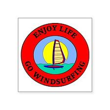 "windsurfing2 Square Sticker 3"" x 3"""