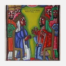 Ethiopian orthodox Queen of Saba Icon Tile Coaster