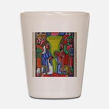 Ethiopian orthodox Queen of Saba Icon Shot Glass