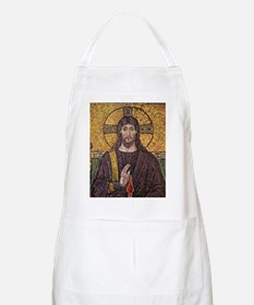 Jesus Christ Magnificent Ancient Mosaic Apron