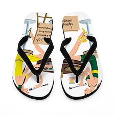 Packers Sushi Flip Flops