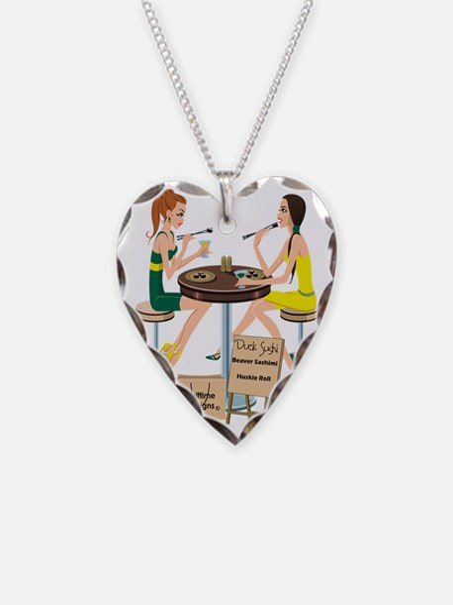 Oregon Sushi Necklace Heart Charm