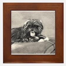 PeekAPoo Dog Framed Tile