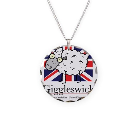 Giggleswick sheep logof Necklace Circle Charm
