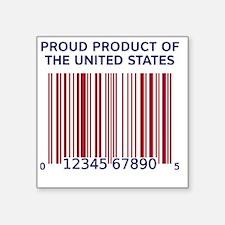 "Barcode United States Square Sticker 3"" x 3"""