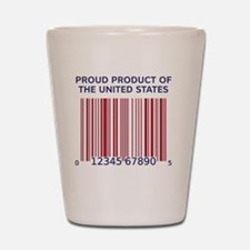 Barcode United States Shot Glass