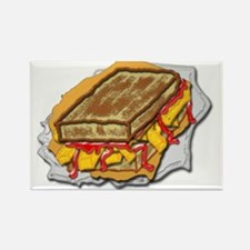 chip butty ketchup Rectangle Magnet