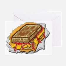 chip butty ketchup Greeting Card