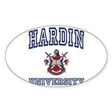 HARDIN University Oval Decal