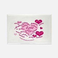 Love in Many Languages Rectangle Magnet