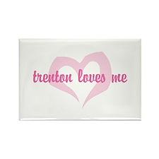 """""""trenton loves me"""" Rectangle Magnet"""