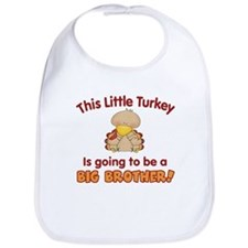 Little Turkey Big Brother Bib