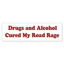 Drugs and Alcohol Bumper Bumper Sticker