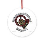 Tie Dye Art Ornament (Round)