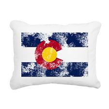 colorado-flag Rectangular Canvas Pillow