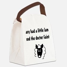 Mary had a little lamb, and the d Canvas Lunch Bag