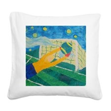 Soccer Goal Keeper Square Canvas Pillow