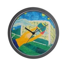 Soccer Goal Keeper Wall Clock