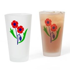Poppy Drinking Glass