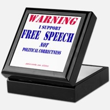 FreeSpeechWarning Keepsake Box