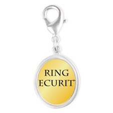 Ring Security Silver Oval Charm