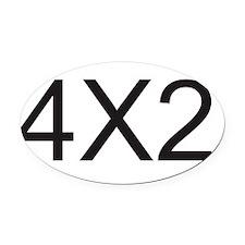 4x2 Oval Car Magnet