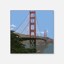 """Funny Golden gate bridge Square Sticker 3"""" x 3"""""""