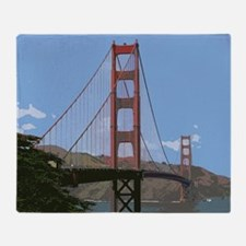 Cute Golden gate bridge Throw Blanket