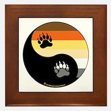 Bear-Pride-Ying-Yang Framed Tile