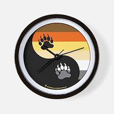 Bear-Pride-Ying-Yang Wall Clock