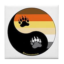 Bear-Pride-Ying-Yang Tile Coaster