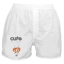 Cute But Trouble Chef Boxer Shorts