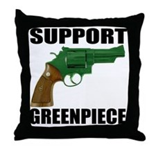 GREENPIECE2 Throw Pillow