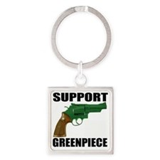 GREENPIECE2 Square Keychain