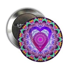 "hopeheart-mandala-8x8 2.25"" Button"