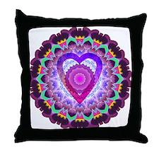 hopeheart-mandala-8x8 Throw Pillow