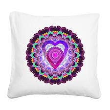 hopeheart-mandala-8x8 Square Canvas Pillow